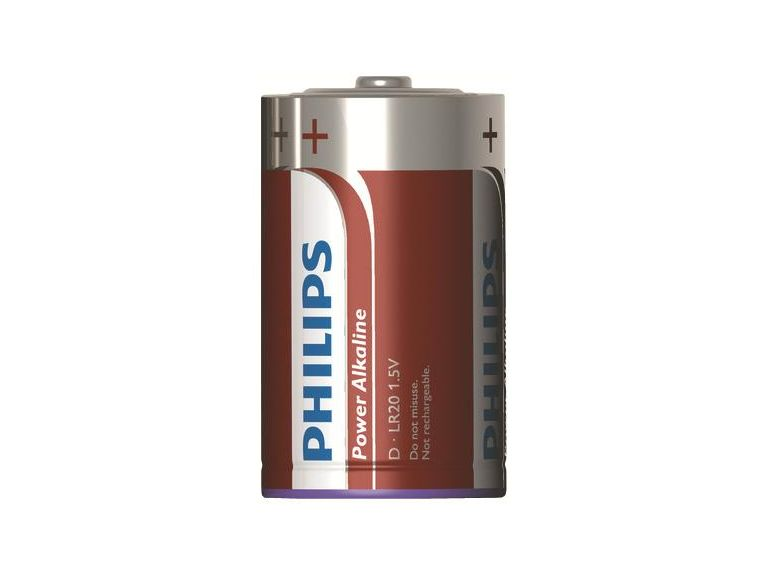 Batterier, Power Alcaline, LR20/D, 1,5V, 2 st