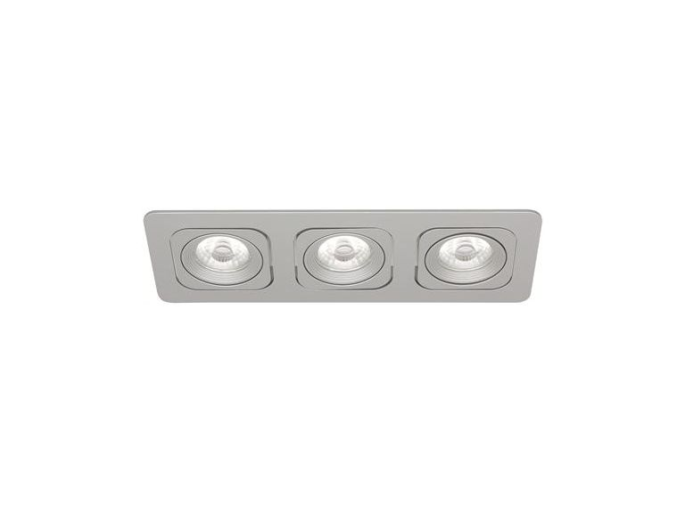 Downlight MD-125, LED, 3x6W, Silver, IP21
