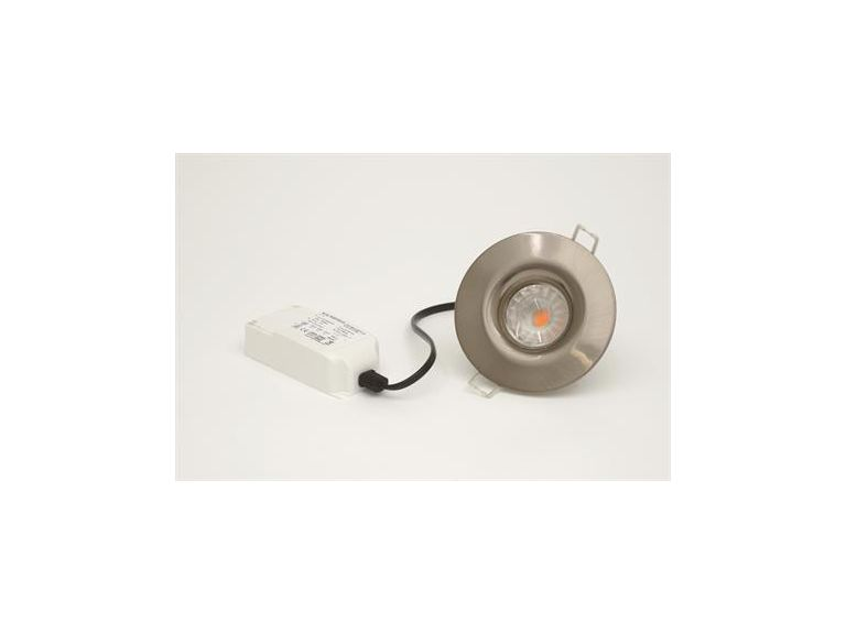 Downlight MD-540, LED, 7,5W, 230V, Satin, IP44
