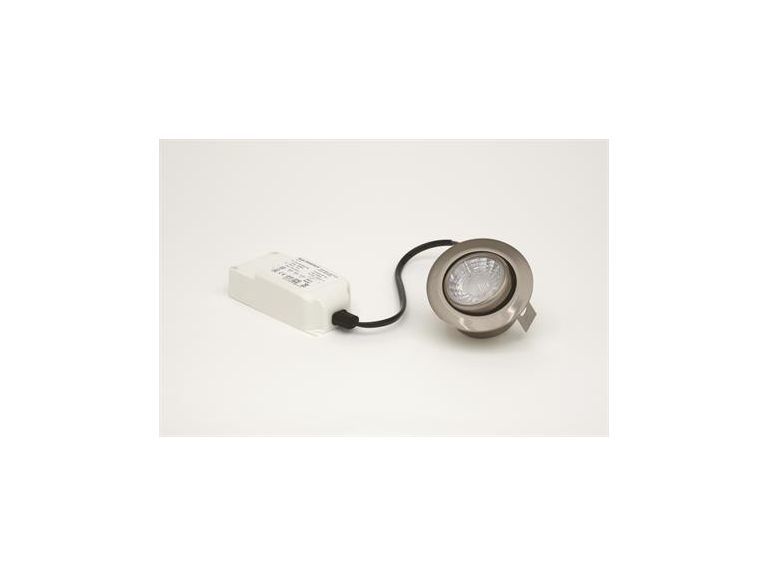 LED-downlight MD-13, 5W, 230V, Satin, IP44