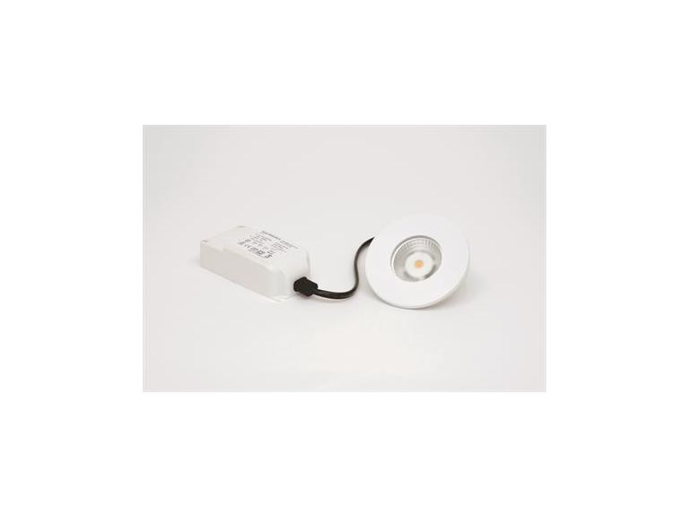 MD-315, LED-downlight, 5W, 230V, Matt vit, IP44